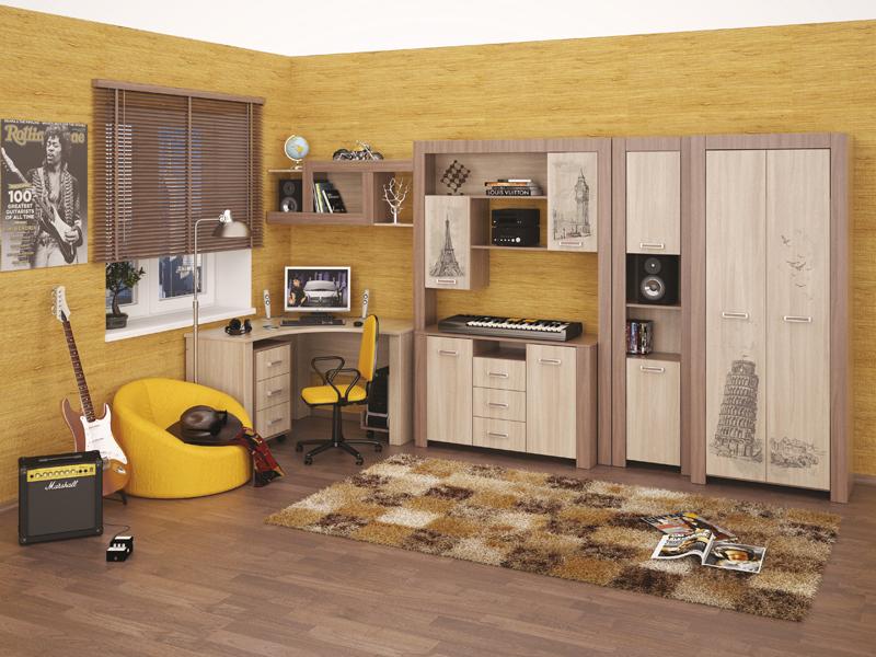 Шкаф модульный в комнату подростка
