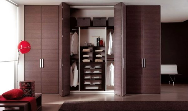 Шкаф с дверью гармошка