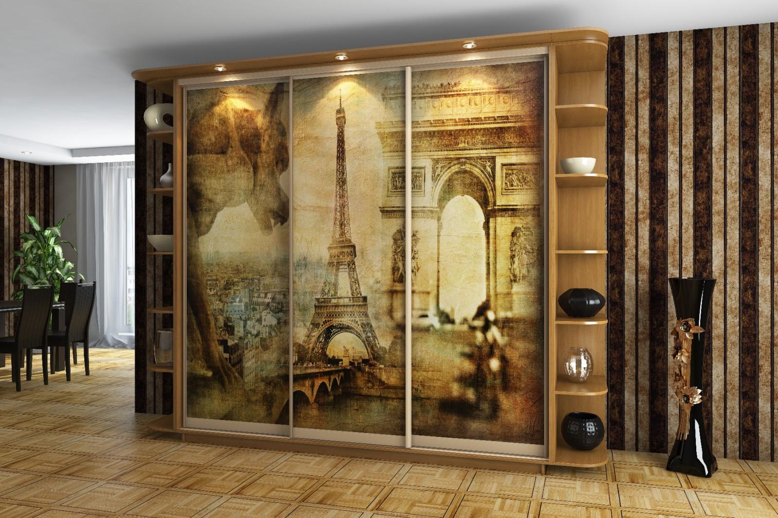 Шкаф с художественной росписью