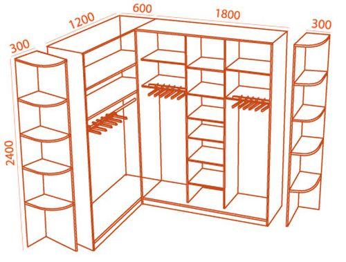 Шкаф с приставными элементами