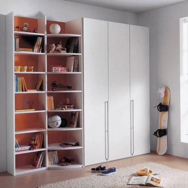 Шкаф со стеллажами