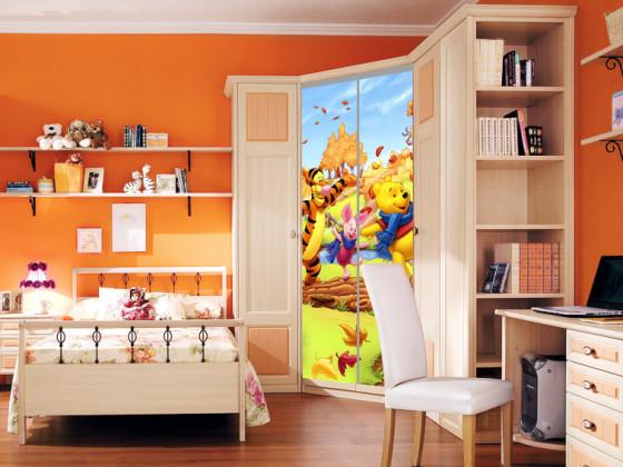 Шкаф в детской с фотопечатью