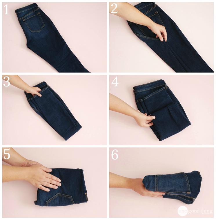 Складываем джинсы