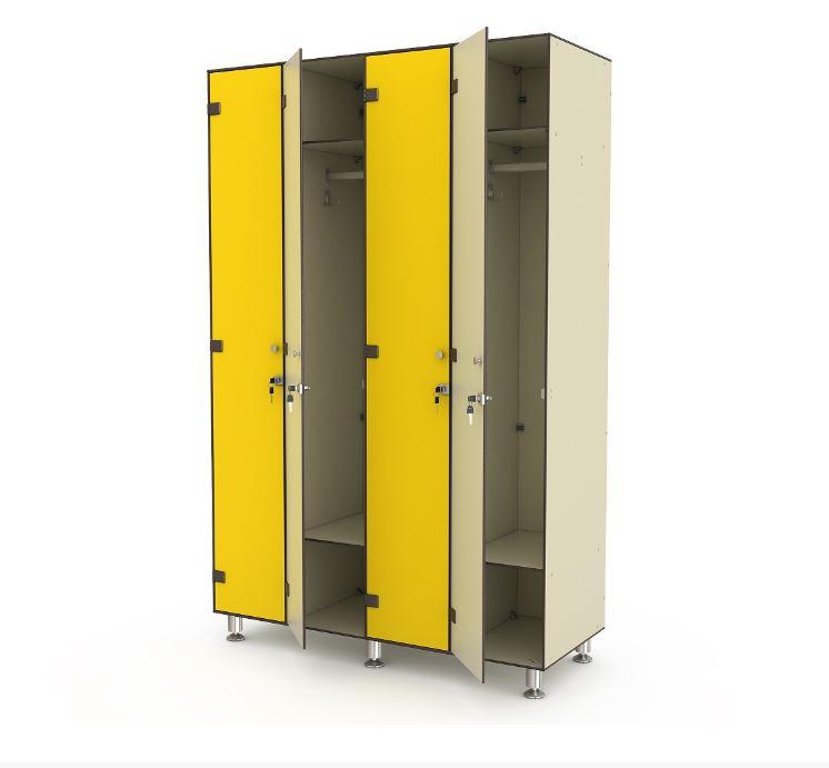 Цветные металлические шкафы