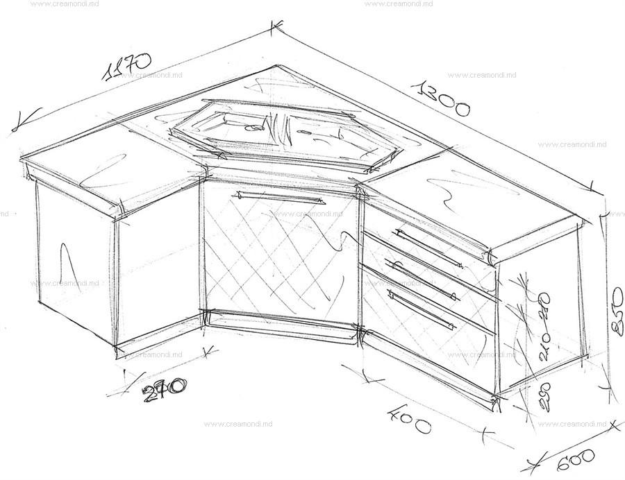 Тумбы угловые под мойку для кухни размеры