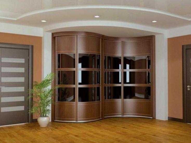 Угловой волнообразный шкаф