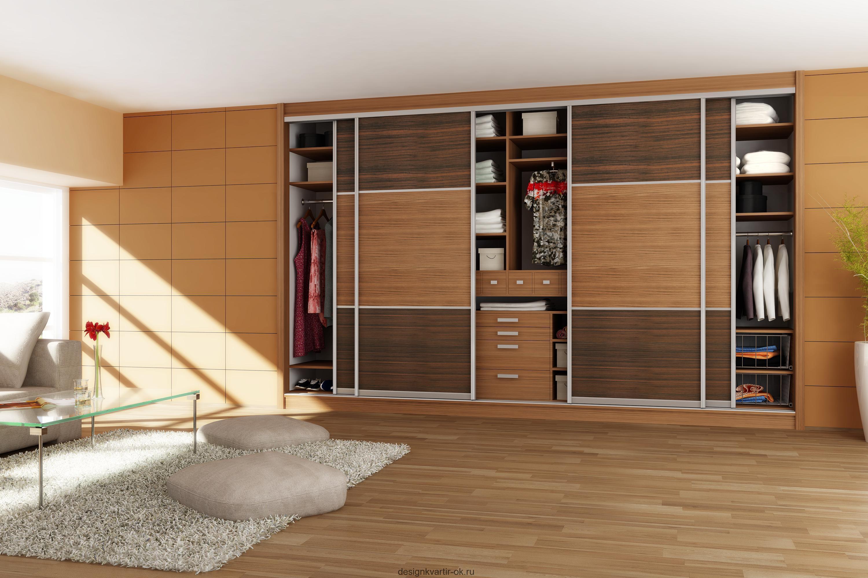 Встроенный шкаф купе, плюсы и минусы, а также варианты напол.