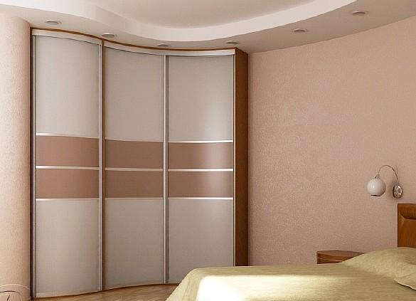 Волнообразный встроенный шкаф