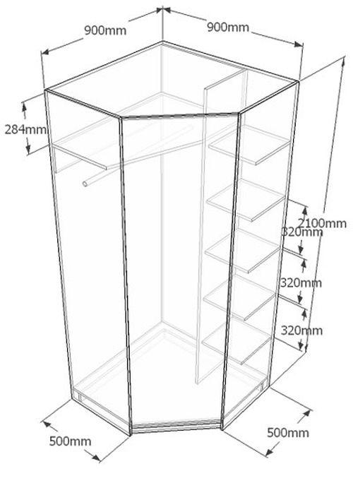 Высокий угловой шкаф