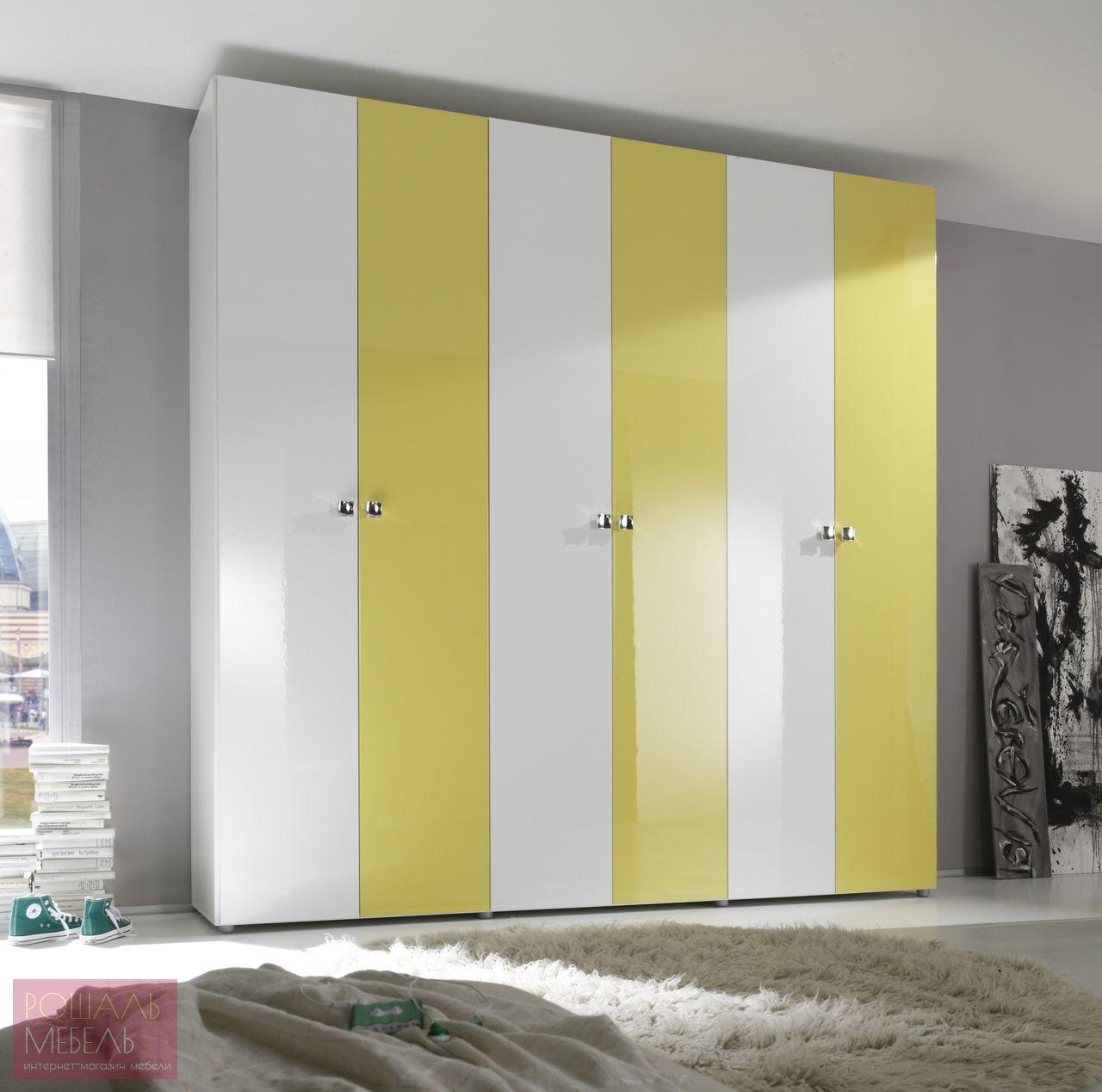 Желто-белый шкаф