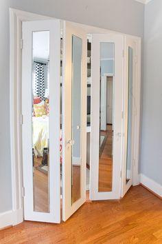 Зеркальная дверь гармошка