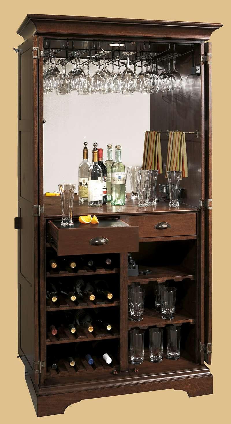 Барный шкаф с зеркалом