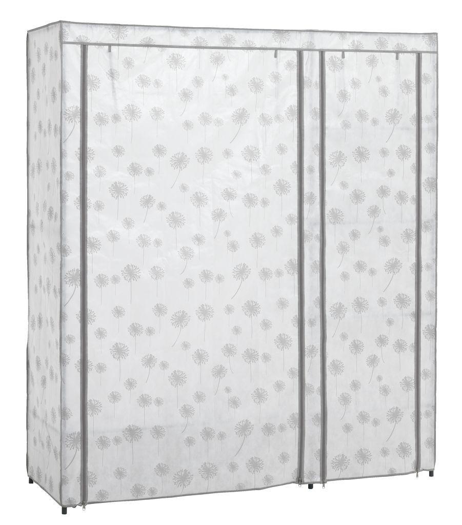 Большой тканевый шкаф на металлическом каркасе