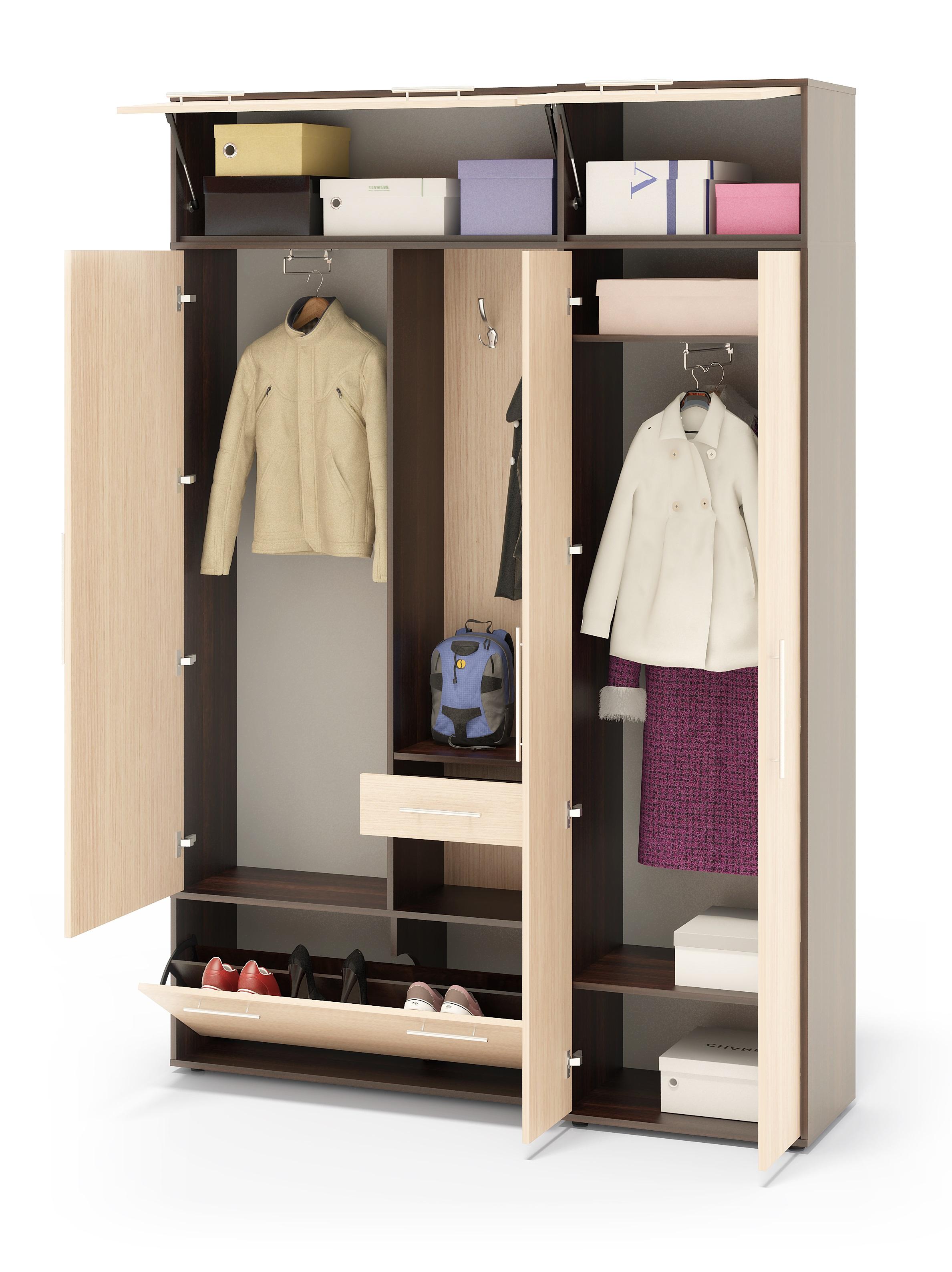 Большой узкий шкаф