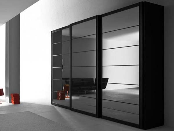 Черный шкаф купе