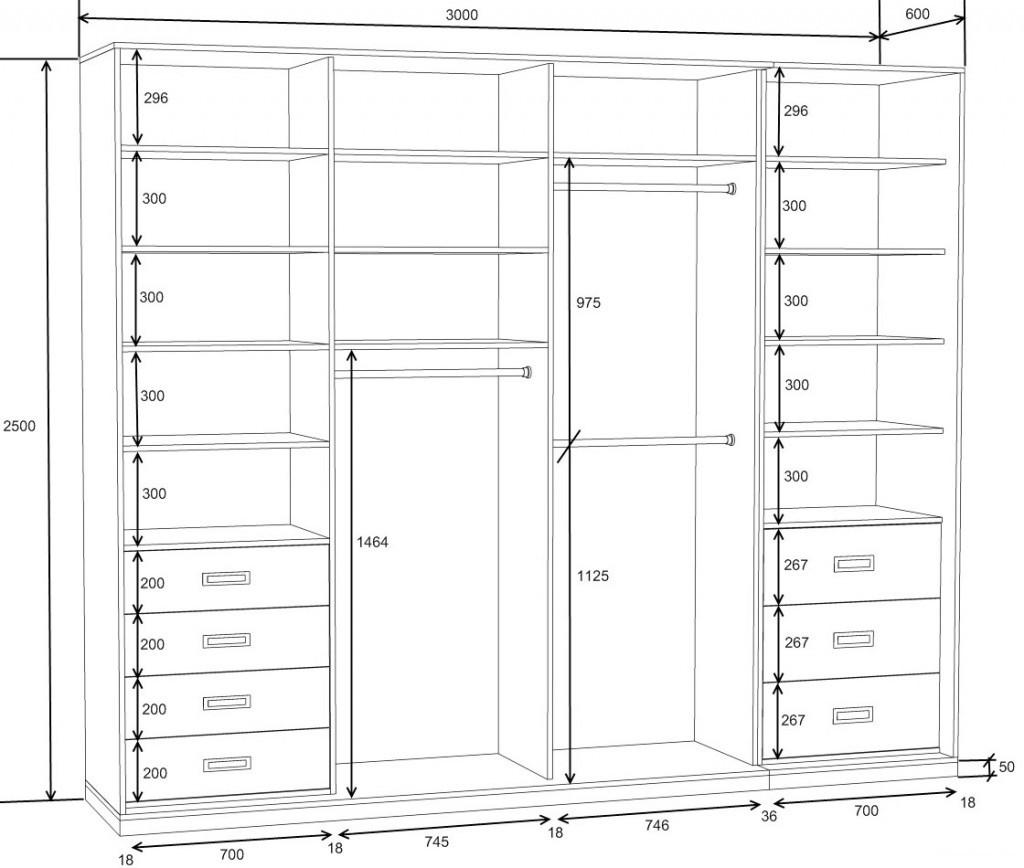 Встроенные шкафы купе схема фото 753