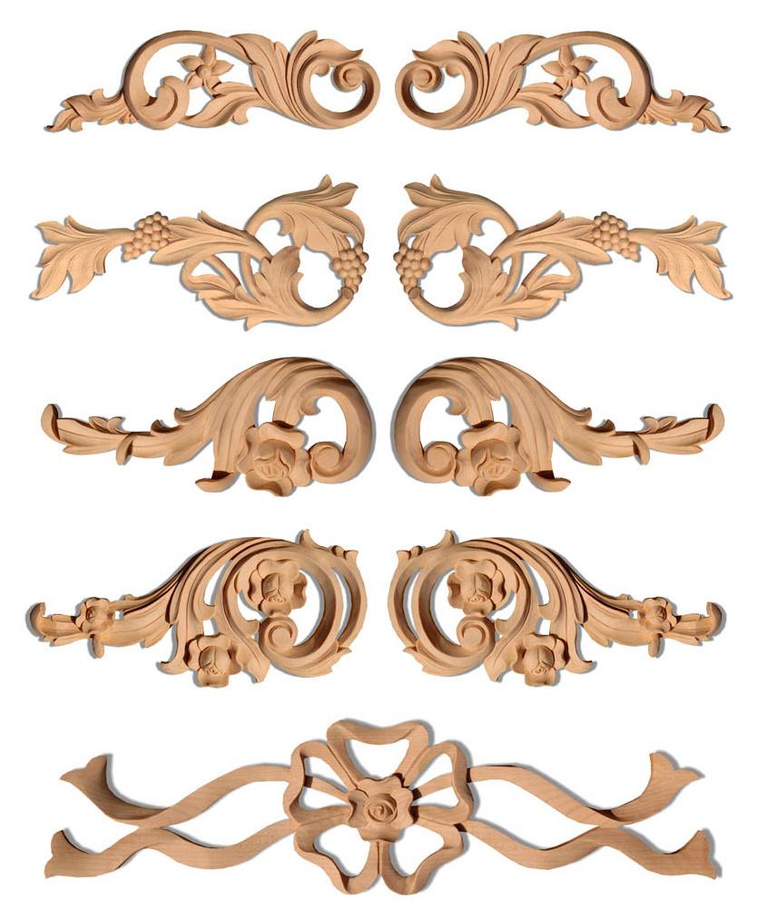 Декоративные элементы для отделки мебели