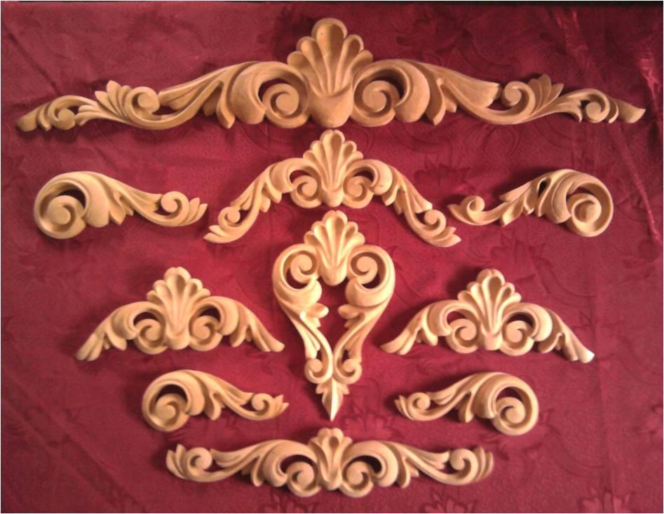 Декоративные накладки на мебель из дерева
