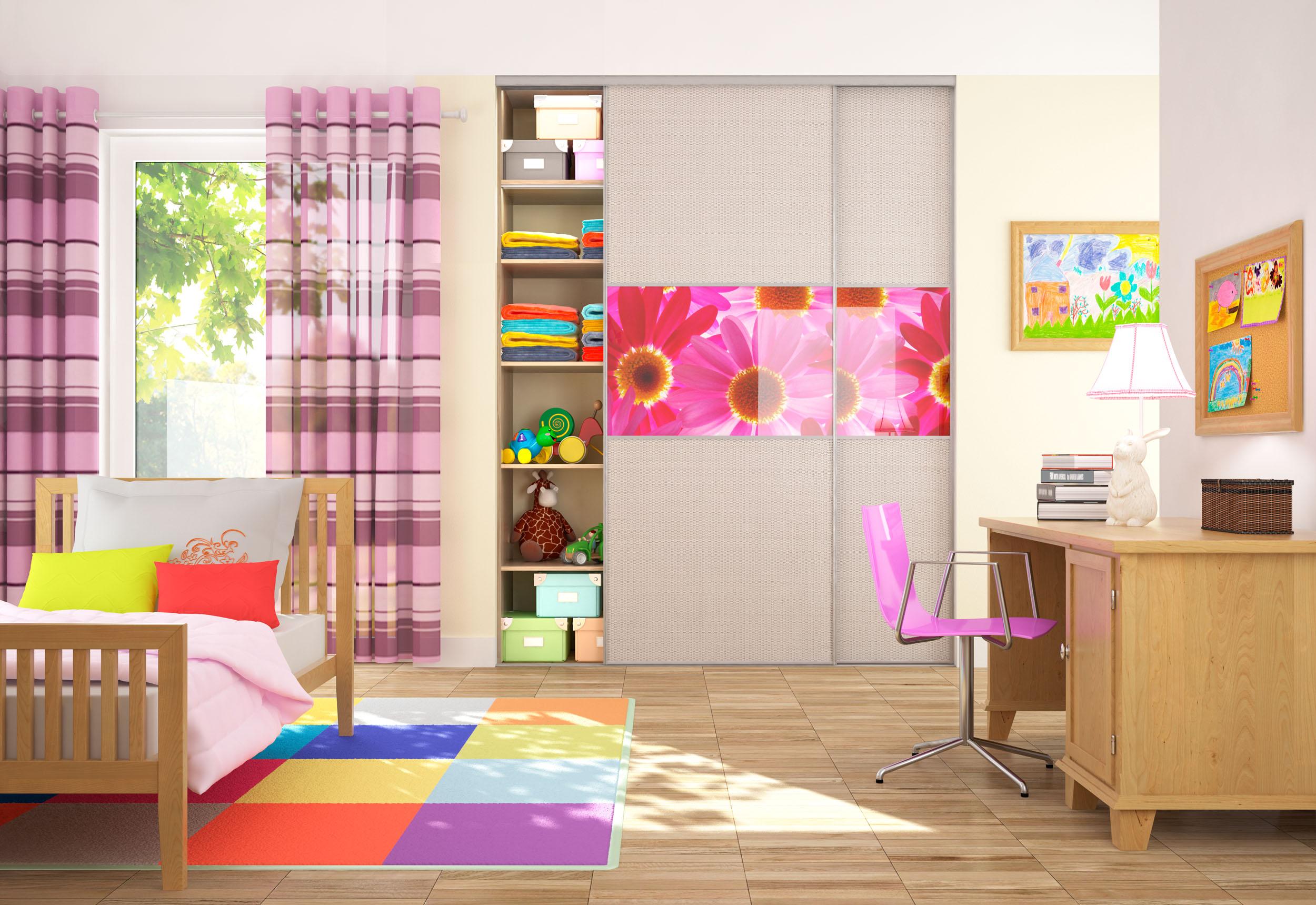 Дизайн встроенного шкафа для детской