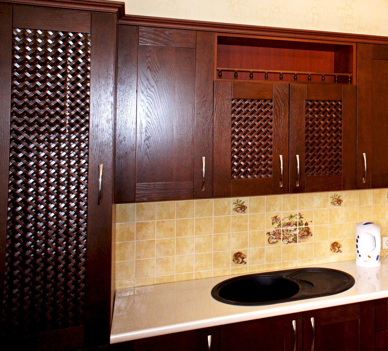 Двери для встроенных шкафов из плетенки