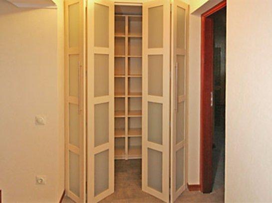 Двери гармошка для шкафа своими руками