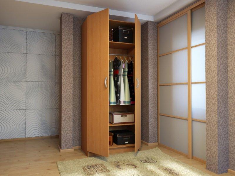 Двухдверный шкаф с распашными дверями