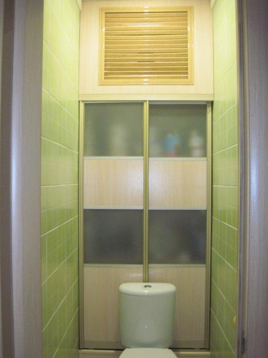 Как сделать встроенный шкаф купе в туалете