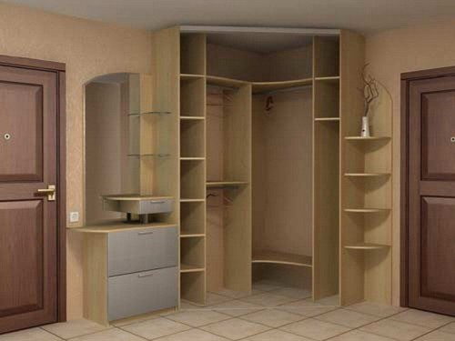 Как собрать угловой шкаф
