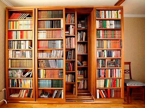 Книжный раздвижной шкаф