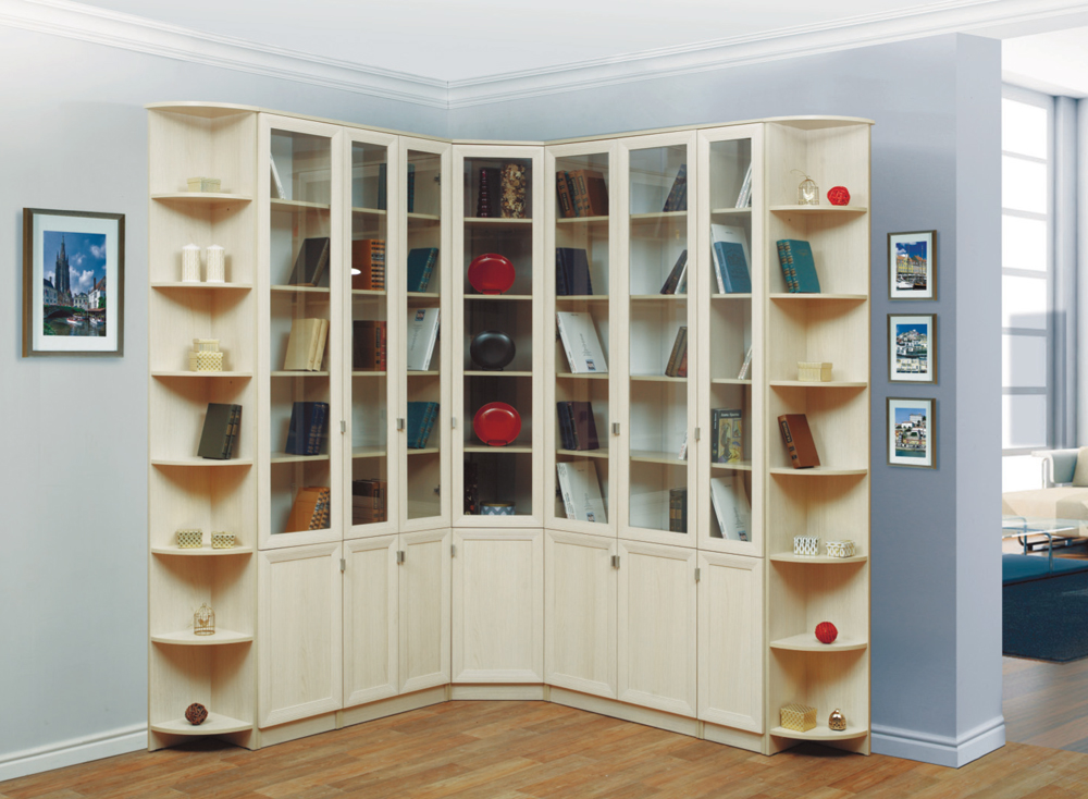 Книжный шкаф с полками