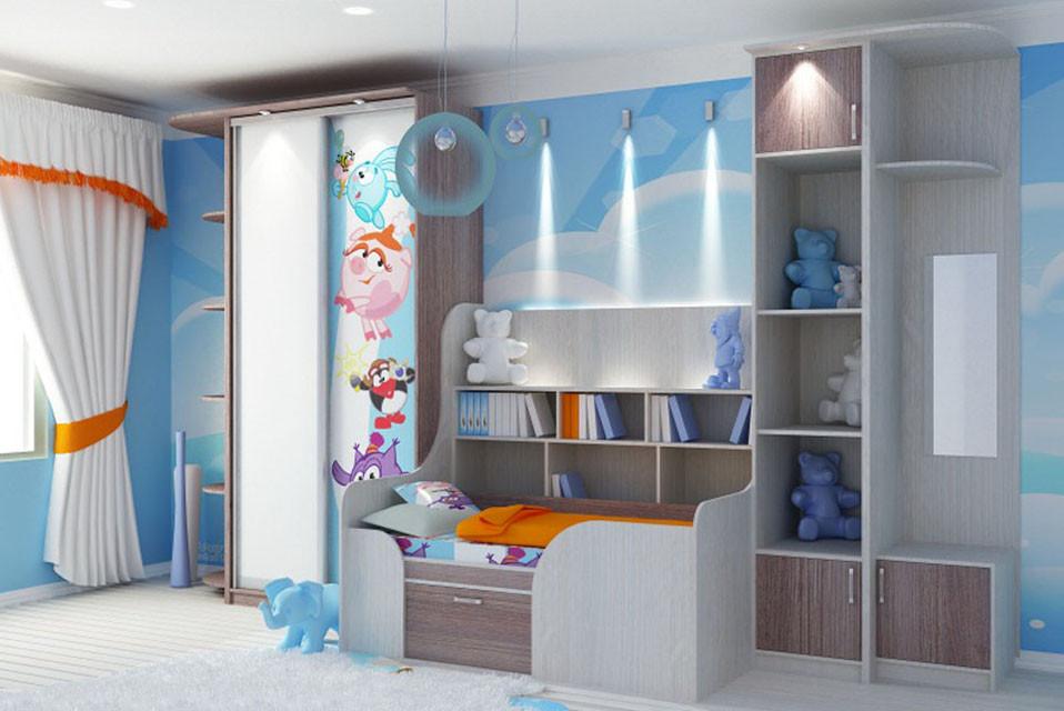 Корпусный шкаф-купе в детскую
