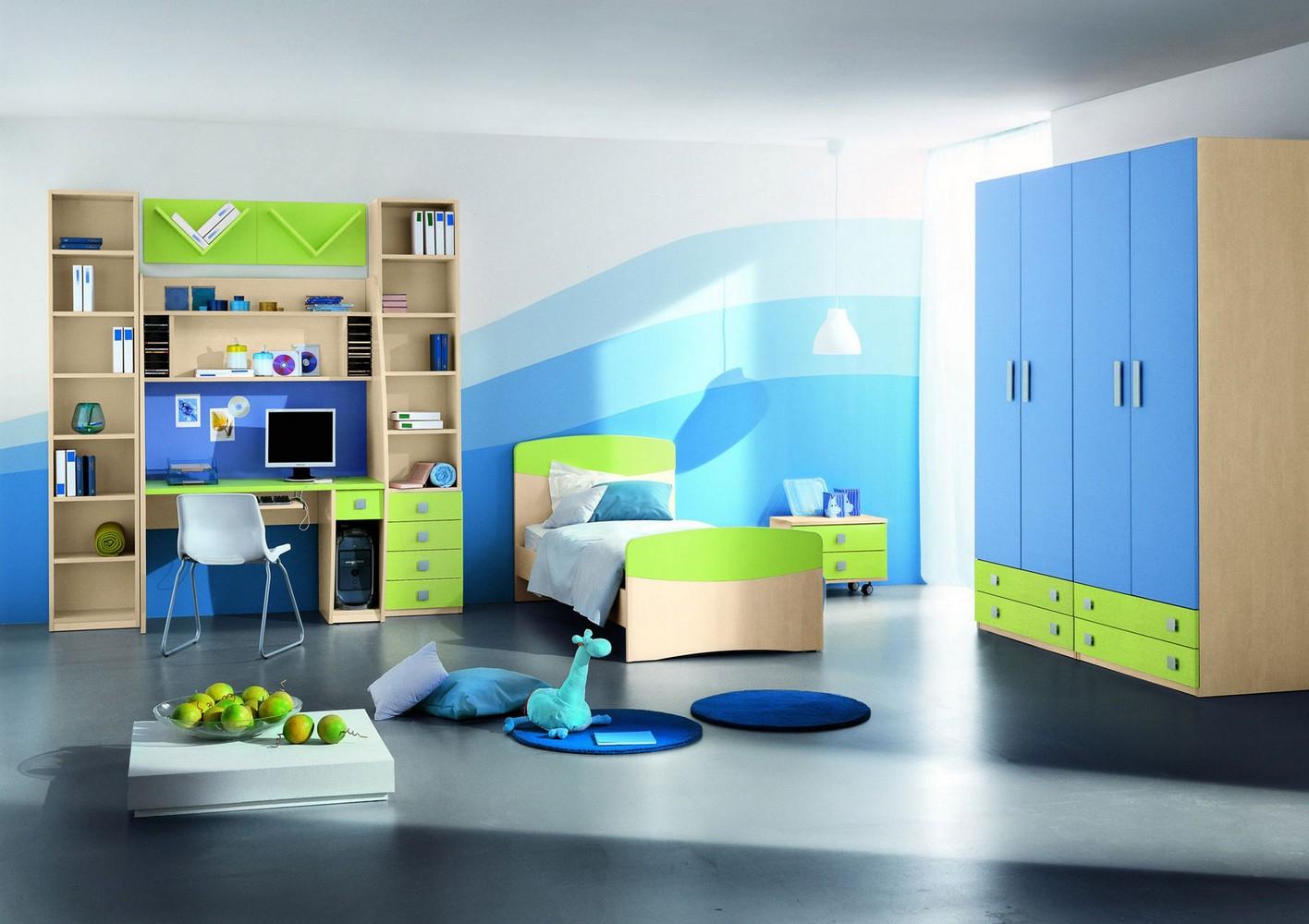 Мебель синяя