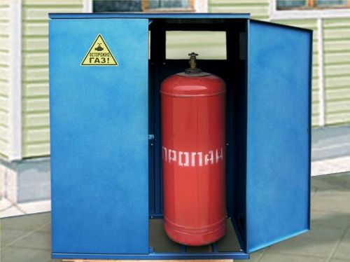 Металлический шкаф для хранения газовых баллонов