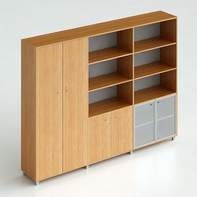 Офисный шкаф комбинированный для одежды и документов