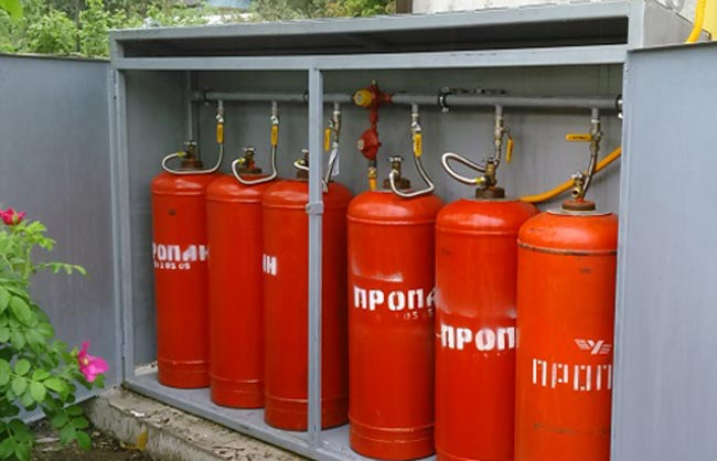 Правила размещения газовых баллонов