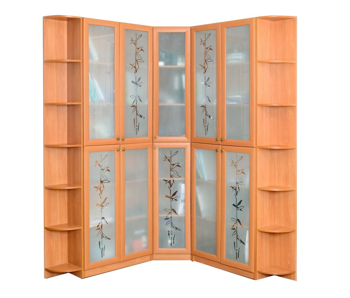 Распашной шкаф с матовым стеклом