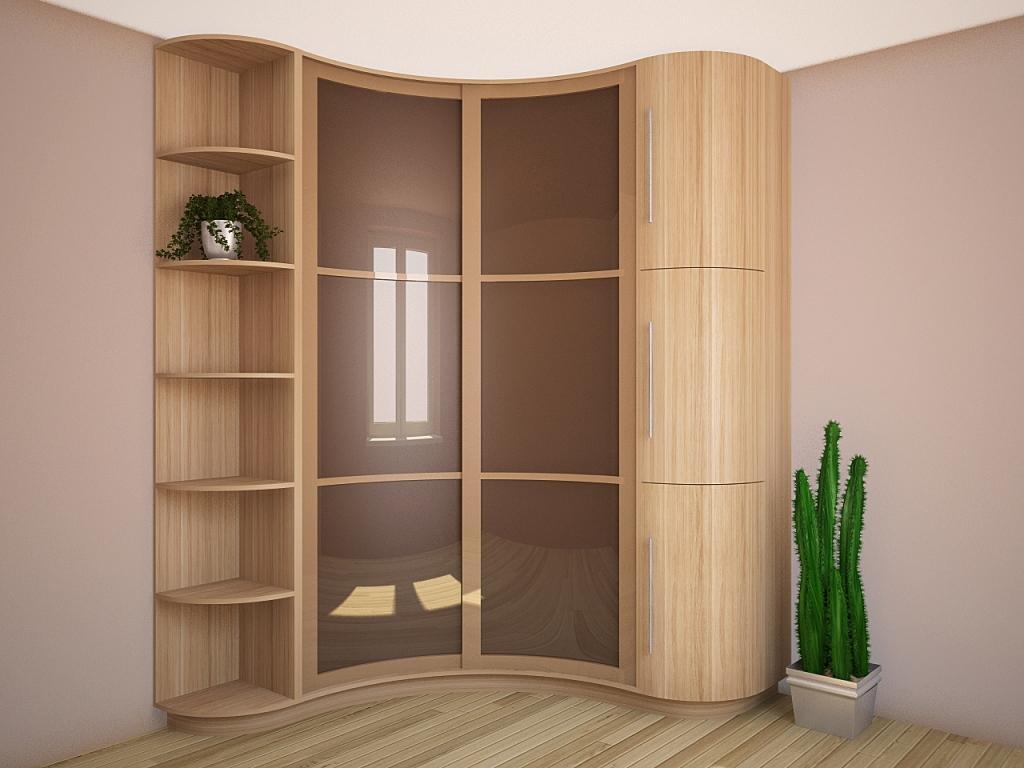 Радиусный угловой шкаф