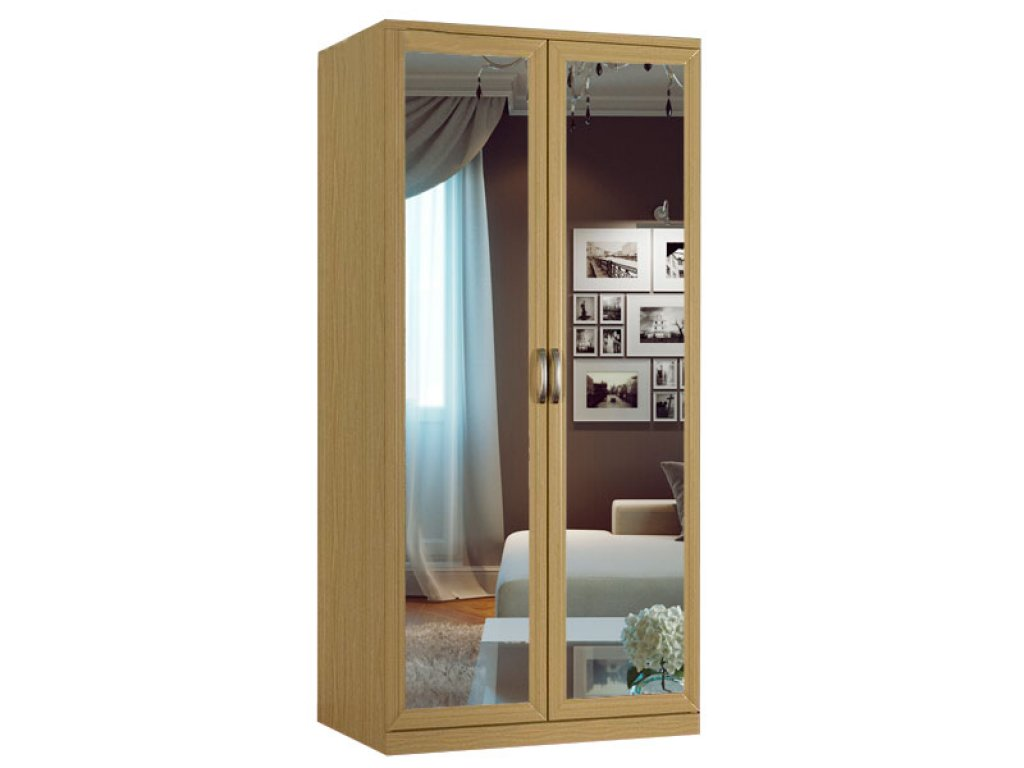Распашной шкаф с зеркалом