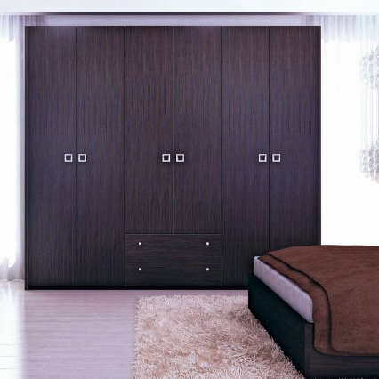 Распашной шкаф венге цвета в спальню