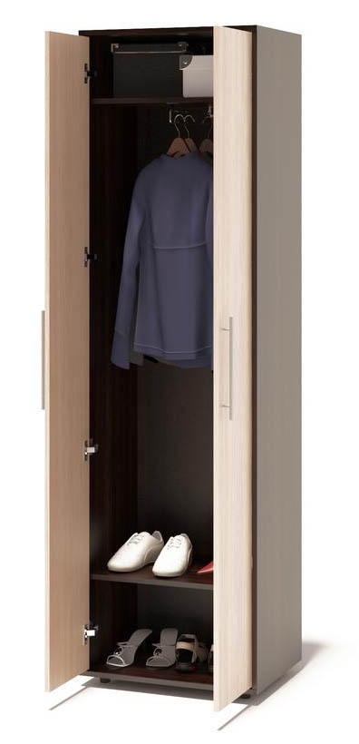 Распашной узкий шкаф