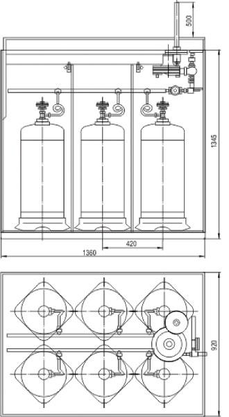 Размеры ящика для газового баллона своими руками
