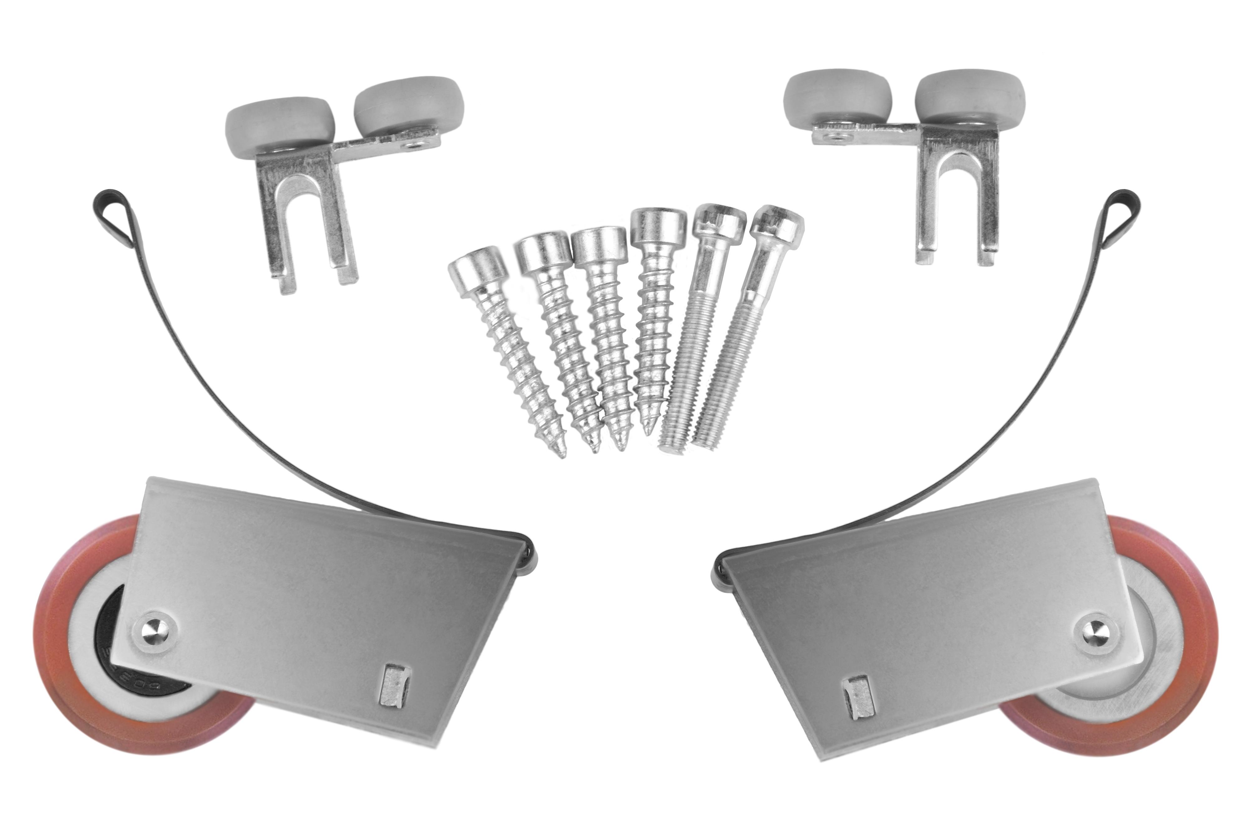 Ролики для шкафа купе усиленные асимметрия