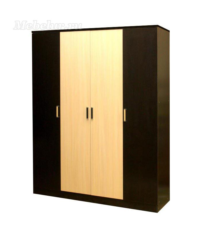 Шкаф 4 дверный распашной венге
