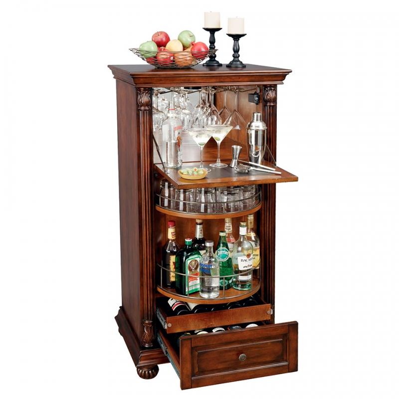 Шкаф бар с выдвижным ящиком
