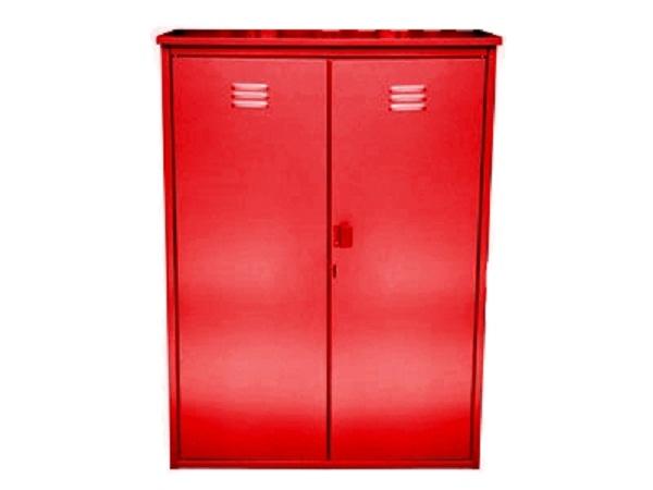 Шкаф для газовых баллонов на 2 баллона