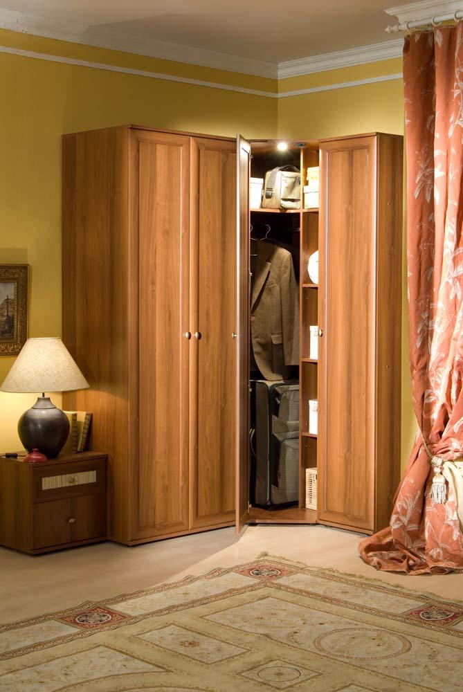 Шкаф для спальни угловой