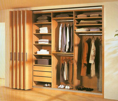Шкаф гармошка деревянный