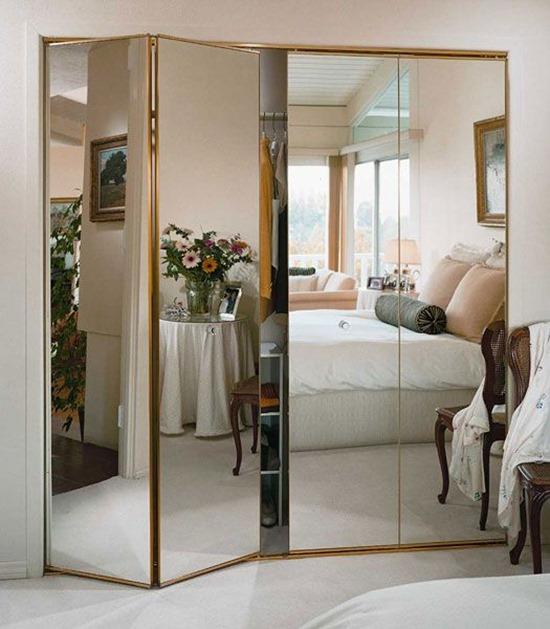 Шкаф гармошка зеркальный