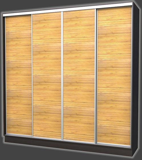 Шкаф-купе с бамбуковым фасадом