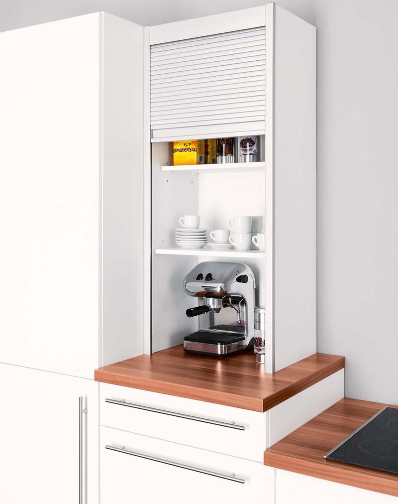 Шкаф на кухню с рольставнями